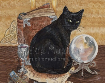 Art of Magic Black Cat Limited Edition Print