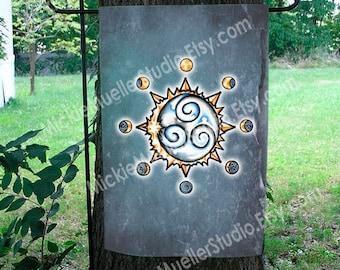 Solar Eclipse Sigil Garden Flag