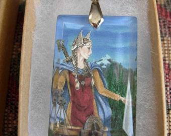 Freya Crystal Art Pendant