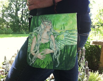 Titania Faerie Queen Small Shoulder Bag With Changeable Hand Pressed Flap