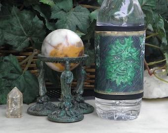 Wrap Beverage Insulator with Greenman Art