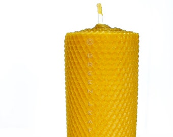 "2.25"" x 6"" Rolled Beeswax Candle 100% Beeswax Candle"