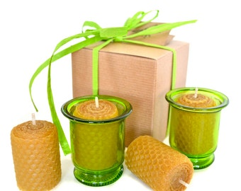 Beeswax Candle Gift Set - Green
