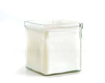 Dye Free - Fragrance Free Soy Candle - Recycled Glass Candle Holder
