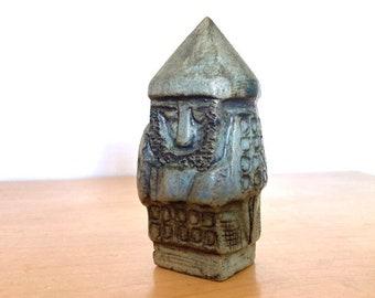 MCM Ceramic Viking Figurine Statue Signed