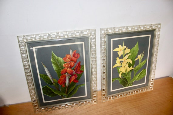 Retro Plastic Picture Frames For 8 X 10 Open Weave W Etsy