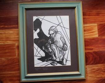 Shadow Self #1  Glorian Bluhm 2/35 Limited Edition Serigraph Print 1963