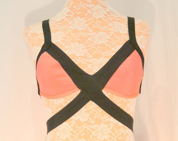 Herve Leger Color Block Mazzy sz SM Bra Top