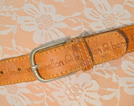 United Colors of Benetton Stamped Leather Belt