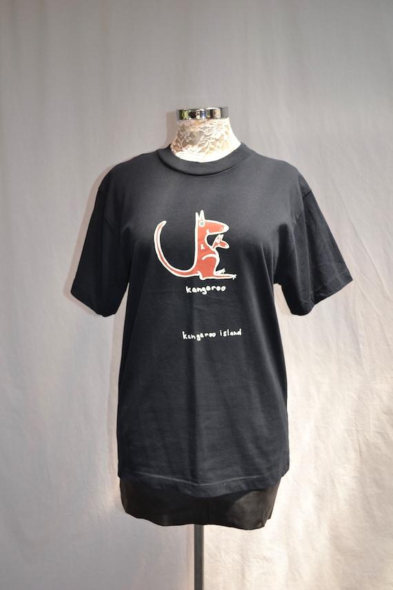 Kangaroo Island NWT Deadstock Vintage Australian Tourist T shirt -Brand New Never Worn - Mens S - Womens SM Med