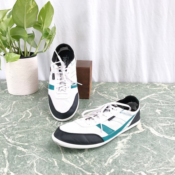 Newfeel * Walking Shoes in White Teal Black - Unisex EUR 39 - Women's 8.5