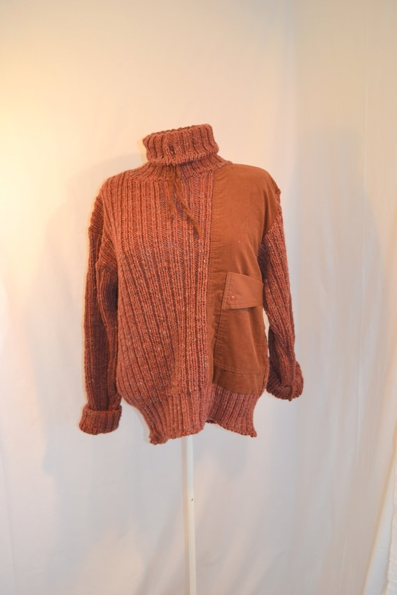 Rusty Heavy Woolly Turtle Neck sz Med with Pocket!