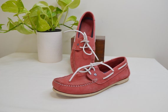 Unisex Pomegranate Red Deck Shoes by Dubarry of Ireland - Sailing Boating Loafers - All Suede & Leather Highest Quality - EU 41 - UK 7