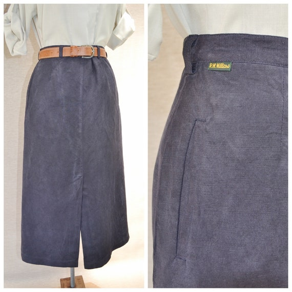 R.M. Williams Sueded Silk & Linen Outback Skirt in