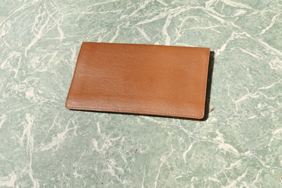 60's Light Brown Wallet / Organizer - Brand New Never Used - Pigskin Leather - IPhone Pocket!