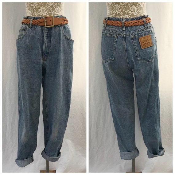"90's Vintage Corfu Denim High Waist Baggy Jeans Stone Wash - Made in Australia - AUS 14 - 30"" Waist"