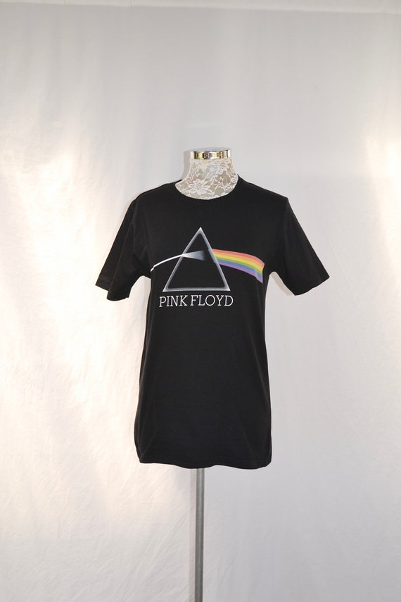 Classic Black Pink Floyd T shirt - Genuine Pink Floyd Concert Merchandise - Very Good Condition - Mens XS - Womens SM Med