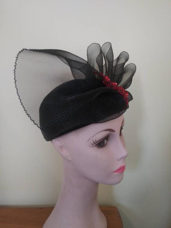 Vintage 1950's Elizabeth Hawkins hat / fifties fa… - image 3