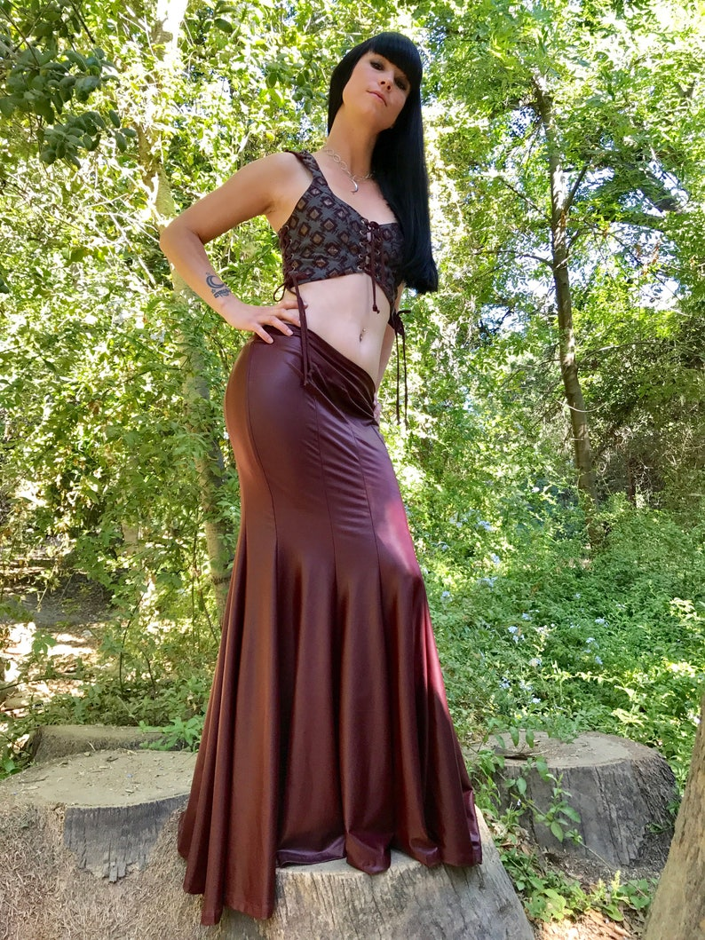 SALE Last One: The Faux Vegan Leather Mermaid Skirt in image 0