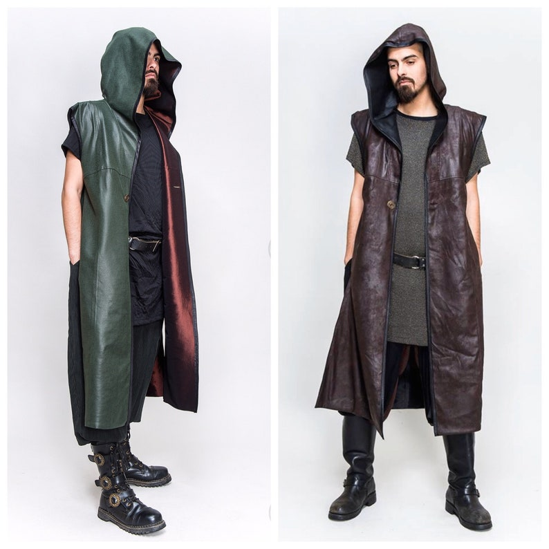 RESTOCKED: Men's REVERSIBLE Green or Brown Faux Leather image 0