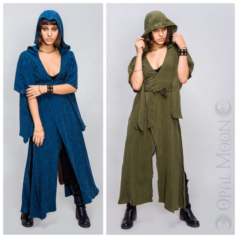 NEW The Nomad Cloak with Hood in Blue Lotus or Olive Green image 0