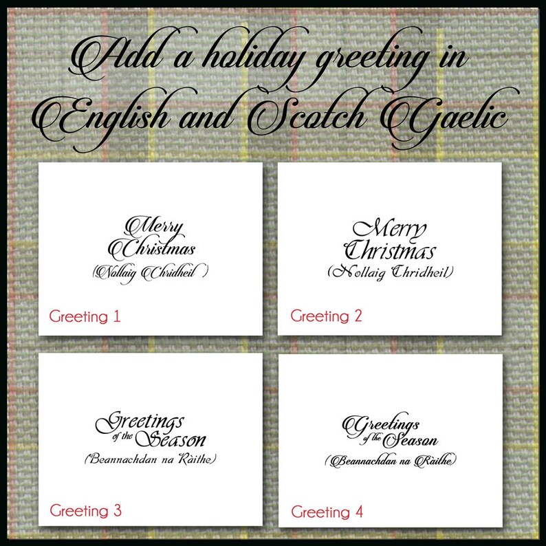 Scotch Castle Christmas Card  Midhope Castle in Snow  Note Card  Highlands Set of 10 Scotland  JAMMF Tartan Plaid  Stationery Gift