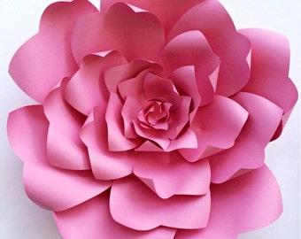 Paper Flower Tutorial Backdrop Template DIY Pattern Large Wedding Decor