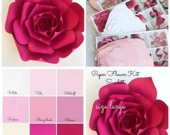 Paper flower kit etsy more colors paper flower kit mightylinksfo