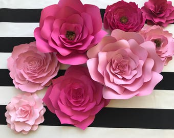 Baby nursery wall decor paper flowers for girls nursery etsy large paper flower backdrop for weddings showers and photo walls pink paper flower nursery decor kate spade inspired paper flower wall art mightylinksfo