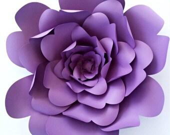 Paper Flower Template DIY Pattern Tutorial Backdrop Large Wedding Decor