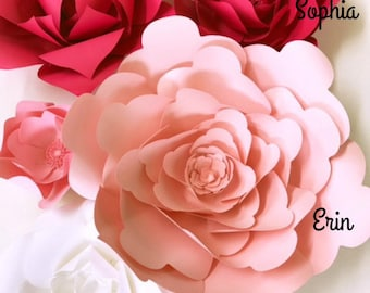 Diy Baby Shower Decor Paper Flowers Baby Shower How To Paper Etsy