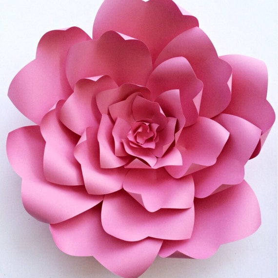 Paper flower tutorial paper flower backdrop paper flower etsy image 0 mightylinksfo