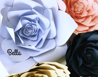 Tutorial How To Instructions Paper Flowers, DIY Paper Flower Video, Paper Flowers, Wall Backdrop, Paper Flower Templates