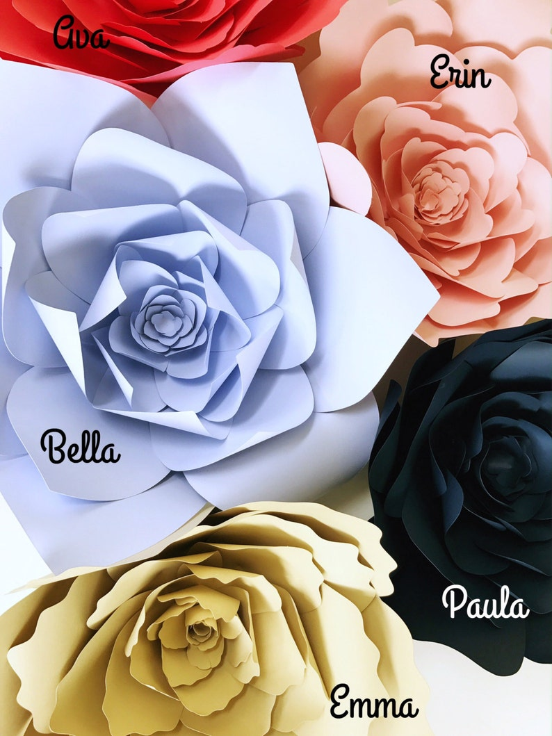 Tutorial How To Instructions Paper Flowers Diy Paper Flower Video Paper Flowers Wall Backdrop Paper Flower Templates