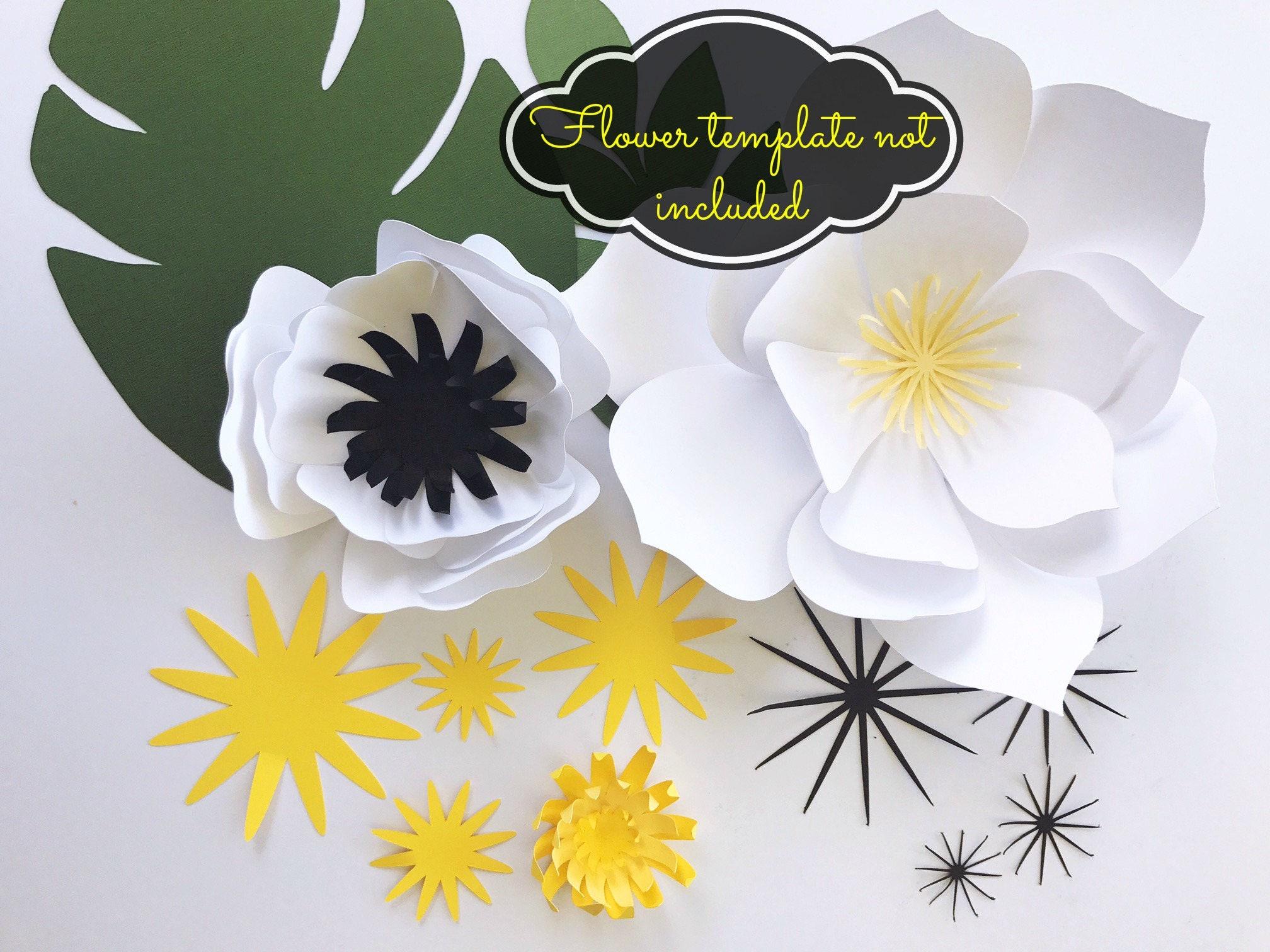 paper leaf template paper flower centers diy tropical