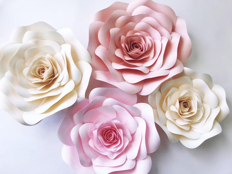 Large Paper Flowers For Nursery Over Crib Decor Wedding Etsy