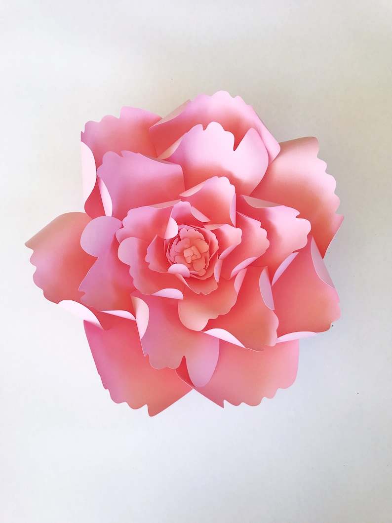 Large Peony Paper Flower Template Diy Instant Download Template With Video Tutorial Paper Flower Decor For Weddings Showers Or Home Decor