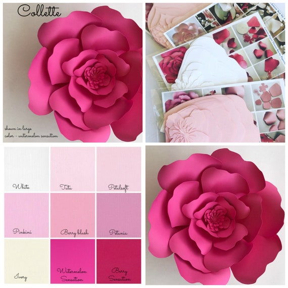Paper flower kit do it yourself paper flower kits paper etsy image 0 mightylinksfo