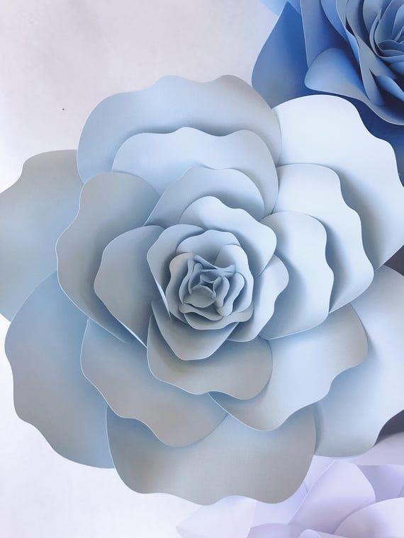 Diy Paper Flowers For Weddings Flower Templates Include Video Etsy