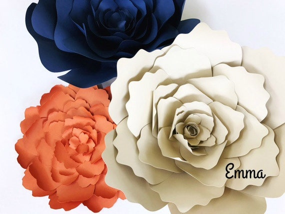 Floral paper craft template flower template paper cutting etsy image 0 mightylinksfo