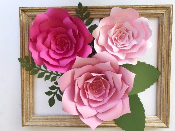 Paper flower kit diy paper flower kits nursery decor over etsy image 0 mightylinksfo