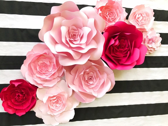 Large Paper Flower Backdrop For Weddings Showers And Photo Etsy