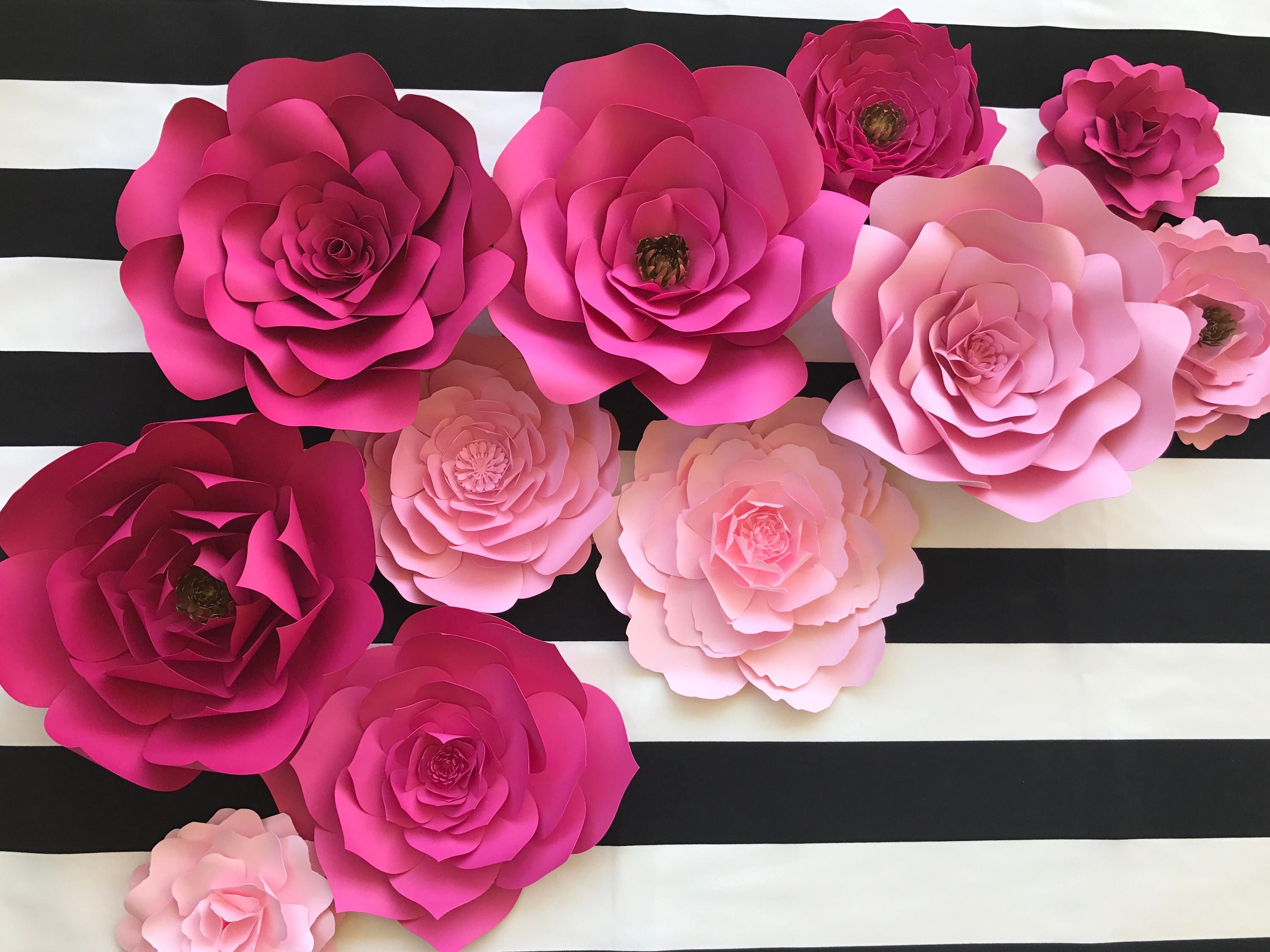 large paper flower backdrop for weddings showers and photo