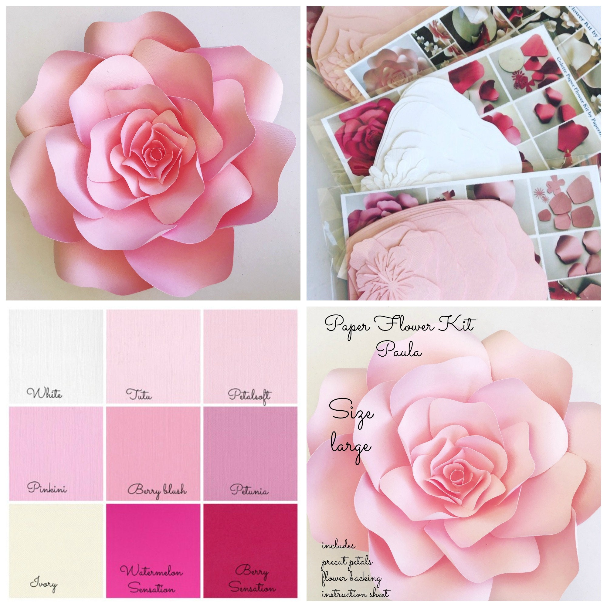 Paper Flower Kit Do It Yourself paper flower kits paper | Etsy