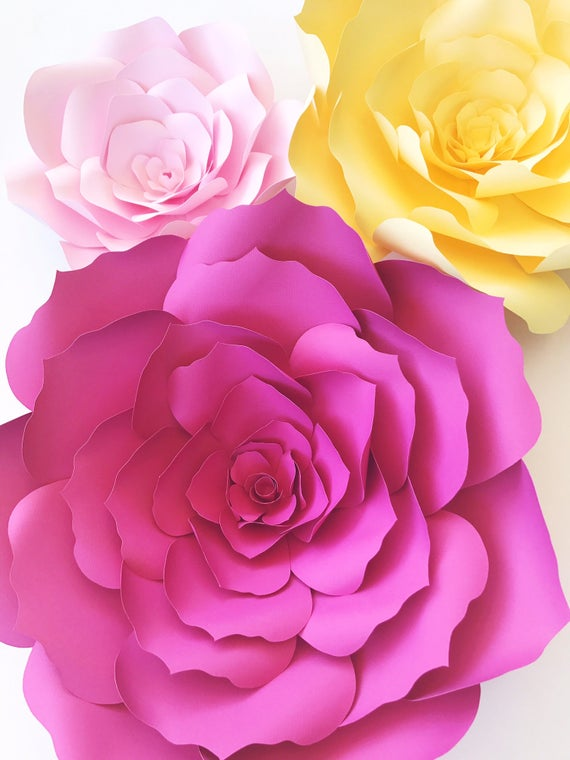 Paper Flower Templates Include Video Instructions DIY Paper Etsy