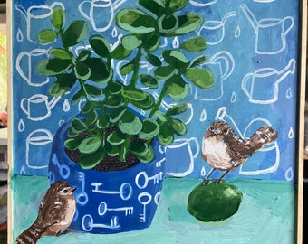 The Plant Sitters - Original Acrylic Painting