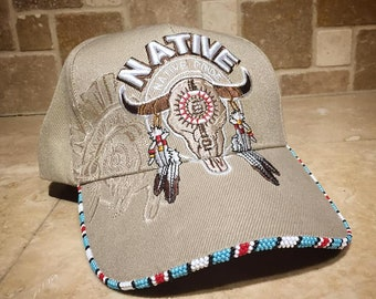 1acee51ddc6 Beaded Native American hat by American Indian Artist