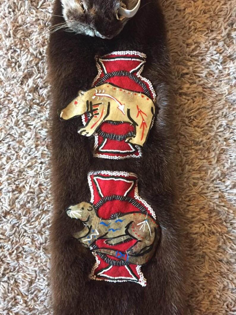 Otter fur bag Native American pipe bag possibles mountain man regalia chanupa
