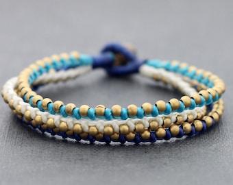Bead Bracelets Nautical Brass Bracelet Woven Friendship