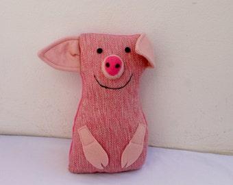 The pig, handwoven softie, plush, pillow